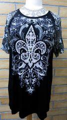 13060SX Embellished Lace Fleur de Lis Tunic