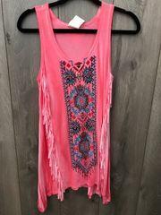 Coral Southwest Bling Tunic