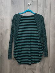 KT2391 - Green & Black Striped Long Sleeve