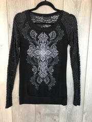 9974L - Long Sleeve w/ Lace Sleeve and Back Design