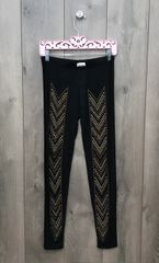 14219P - Black Legging w/ Bronze Embellishment