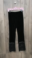 16977P - Velvet Pants w/ Lace Trim