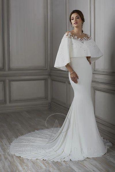 Erin, Adrianna Papell Platinum Wedding Dress | Cupid Couture