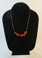 Vintage Southwestern Native American Branch Coral Necklace #N4