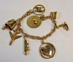 1960 Shriner Memorial Denver Al Malaikah Potentate Mel Pixley Charm Bracelet