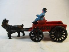 Vintage Cast Iron Goat Wagon Expresso Toy #1570