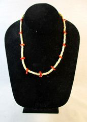Vintage Southwestern Native American Branch Coral & Heishi Necklace #N6