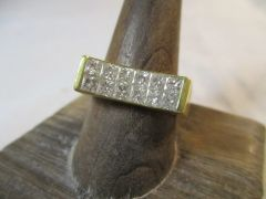 1.56 ct Diamond and 18kt Yellow Gold Ring Size 10.5