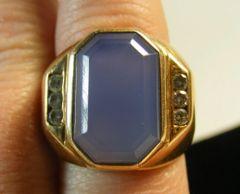 Ellensburg Blue 14kt Gold & Diamond Ring Retail $16,000