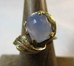 Ellensburg Blue 14 Kt Gold Ring Size 5 Rare Gem Stone Beautiful Facets