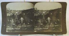 Vintage American Steroscopic Company Stereoview Card Calverley Crossing Niagra