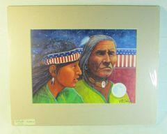 "Chippewa Artist David W Craig Watercolor Print ""First Nation Americans"" #6861"