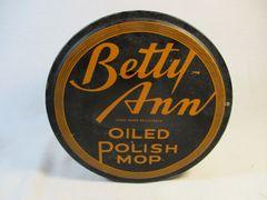 Vintage Betty Ann Oiled Polish Mop Tin