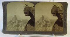 Vintage Underwood & Underwood Stereoview Card Glacier Point California 1903