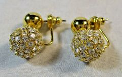 Vintage Joan Rivers Collection Disco Ball Earrings #5614