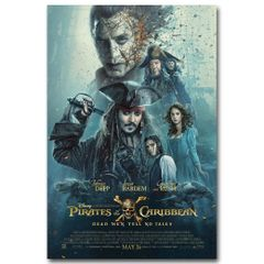 Pirates of the Caribbea: Dead Men Original Movie Poster Disney 27x40 #T2