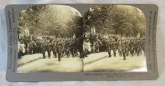 Vintage Keystone View Company Stereoview Card American Troops Chaumont France
