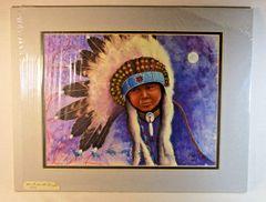 "Chippewa Artist David W Craig Watercolor Print ""Seventh Generation"" #6866"