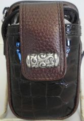 BRAND NEW BRIGHTON BROWN LEATHER CELL PHONE CASE 4171