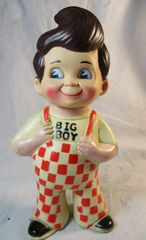 "VINTAGE BOB'S BIG BOY 9"" PLASTIC DOLL BANK MARRIOT 1973"