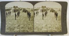 Vintage American Steroscopic Company Stereoview Card Camp Alger Brigade Drill