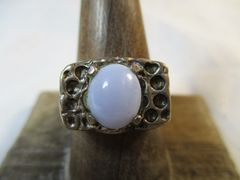 Ellensburg Blue Sterling Silver Ring Size 8.5 Rare Gem Stone Beautiful