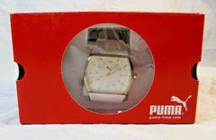 NIB Puma Journey Women's White and Gold Analog Watch Retail $95.00