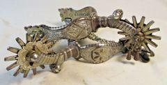 Double Sided Silver Mounted E Garcia Spurs #27
