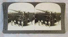 Vintage Keystone View Company Stereoview Card Defense Gun Fortress Monroe Va
