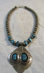 Vintage Navajo Sterling Silver and Turquoise Necklace