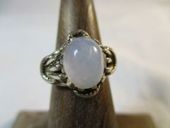 Ellensburg Blue Sterling Silver Ring Size 3.5 Rare Gem Stone Beautiful