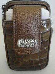 BRAND NEW BRIGHTON TAN LEATHER CELL PHONE CASE 4169