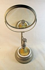 Vintage Mens Shaving Mirror Stand, Brush & Milk Glass Shaving Cream Cup & Soap