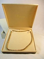 VERONESE ROPE NECKLACE 18CT GOLD BONDED OVER STERLING SILVER #5870