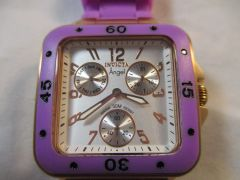Invicta Women's 1300 Angel Collection Multi-Function Purple Rubber Watch #5793