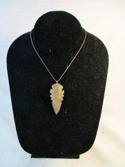 Gold Edged Arrowhead Pendant #6325
