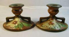 DahlRose 1924-28 Black Paper Label candlestick holders