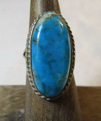 Vintage Turqouise and Sterling Silver Ring Size 5