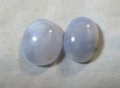 Beautiful 11.5 ct Cabbed and Polished Pair Ellensburg Blue Agate