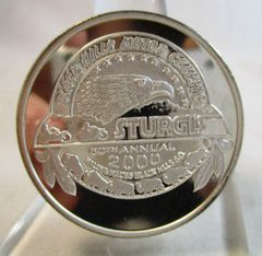 Year 2000 Sturgis Rally South Dakota .999 Silver Round Mirror Finish #6986