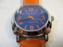 Joan Rivers Classics Collection Rare Bold Watch Orange Leather Band #5871