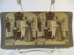 Vintage Underwood & Underwoed Stereoview Card 1903 Man & Woman Getting Water