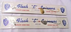War Eagle Brand Vintage Flash & Spinners 2 Pack Spinners Gold/Silver #L17 NOS