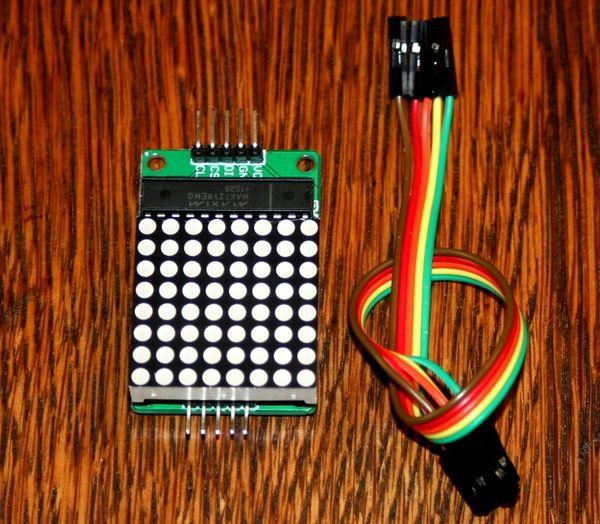 MAX7219 8 x 8 red LED dot matrix
