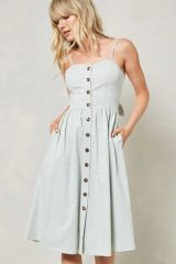 Button Front Sundress