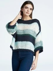 Press Multi Stripe Over-size Sweater