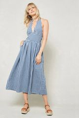 Striped Halter Sundress