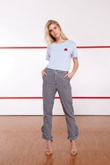 TeeInk Staton Cropped Frill Trousers