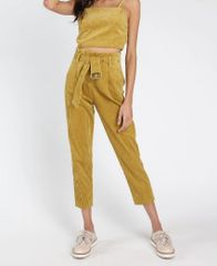 Honey Punch Taryn Corduroy Paperbag Pants