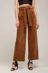 Moon River Very Merry Tie Waist Pants